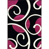Couture Machine Woven Floral Rug - Purple Multi 04