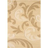 Couture Machine Woven Floral Rug - Cream Beige Multi 07