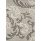 Couture Machine Woven Floral Rug - Grey Cream Multi 13