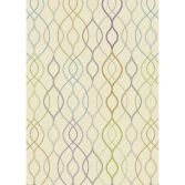 Focus Machine Woven Geometric Rug - Purple Yellow Blue Multi 07
