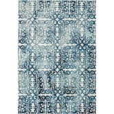 Fresco Hand Tufted Geometric Rug - Deep Blue