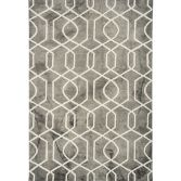 Fresco Hand Tufted Geometric Rug - Grey
