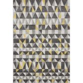 Nova Rug Machine Woven Geometric Rug - Yellow 01