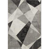 Nova Rug Machine Woven Geometric Rug - Grey 02