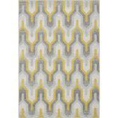 Nova Rug Machine Woven Geometric Rug - Yellow Grey 14