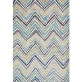 Nova Rug Machine Woven Stripe Rug - Blue Multi 20