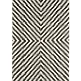 Onix Hand Woven and Printed Stripe Rug - Black 02
