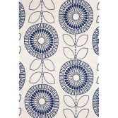 Onix Hand Woven and Printed Floral Rug - Indigo Blue 04