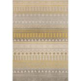 Onix Hand Woven and Printed Geometric Rug - Yellow Multi 11