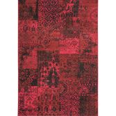 Revive Machine Made Check Rug - Red Black 08