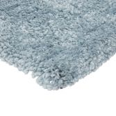 Spiral Shaggy Table Tufted Plain Rug - Duck Egg Blue