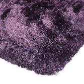 Plush Hand Woven Plain Rug - Purple