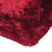 Plush Hand Woven Plain Rug - Red
