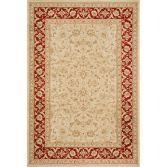 Windsor Machine Woven Floral Geometric Rug - Gold Red 01
