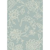 Xico Machine Woven Floral Rug - Grey Cream 06