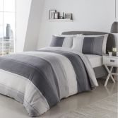 Betley Stripe Duvet Cover Set - Grey