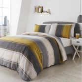 Betley Stripe Duvet Cover Set - Ochre Yellow