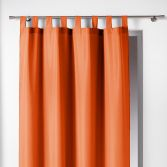 Essentiel Plain Tab Top Single Curtain Panel - Brick Orange