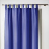 Essentiel Plain Tab Top Single Curtain Panel - Indigo Blue