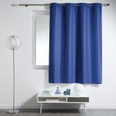 Essentiel Plain Single Curtain Panel with Plastic Eyelets - Indigo Blue