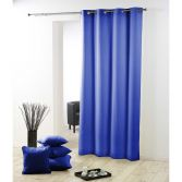 Essentiel Plain Single Curtain Panel with Metal Eyelets - Indigo Blue