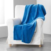 Louna Plain Soft Throw - Indigo Blue
