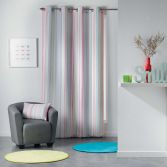 Analea Striped Single Curtain Panel with Eyelets - Multicolour