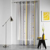 Yellow Mix Eyelet Voile Panel With Geometric Print