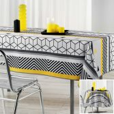 Yellow Mix Tablecloth with Geometric Print
