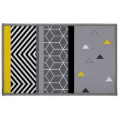 Yellow Mix Rectangular Mat with Geometric Print