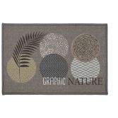 Odaly Graphic Nature Printed Rectangular Mat