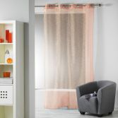 Ollie Striped Eyelet Voile Curtain Panel - Orange