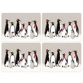 Sara Miller Penguin Christmas Collection Set of Six Placemats