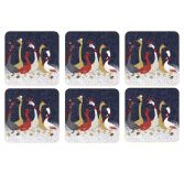 Sara Miller Geese Christmas Collection Set of Six Coasters