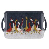 Sara Miller Geese Christmas Collection Large Handled Tray