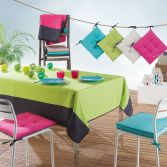 Garden Two-Tone Tablecloth - Lime Green & Charcoal Grey