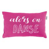 Pacifique Danse 100% Cotton Filled Cushion - Fuchsia Pink