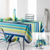 Marina Printed Tablecloth - Blue & Yellow