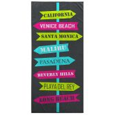 Bright and Colourful 100% Cotton Beach Towel - Long Beach