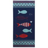 Colourful Nautical 100% Cotton Beach Towel - Fish