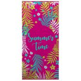 Bright and Colourful 100% Cotton Beach Towel - Summer Time