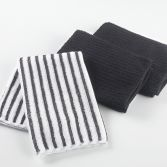 Cuistot Set of 3 Microfibre Kitchen Towels - Black