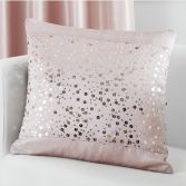 Catherine Lansfield Glitzy Sequin Cushion Cover - Blush Pink