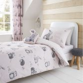 Catherine Lansfield Kids Woodland Friends Duvet Cover Set - Pink