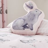 Catherine Lansfield Kids Woodland Friends Filled Shaped Cushion - Pink