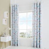 Catherine Lansfield Kids Little Birds Fully Lined Eyelet Curtains - Pastel Multi