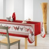 Picoti Chicken Hen Rectangle Tablecloth - Red