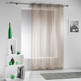 Modeli Striped Eyelet Voile Curtain Panel - Natural Beige