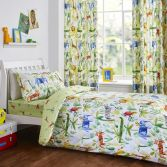 Jungle Safari Kids Duvet Cover Set - Green Multi