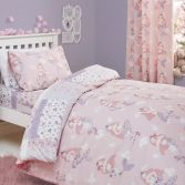 Mermaid Patchwork Kids Duvet Cover Set - Pink